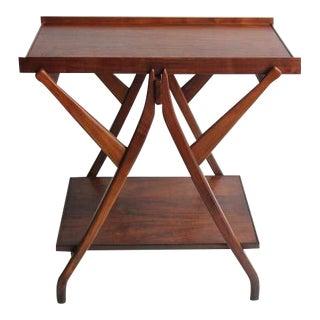 1950's Walnut Serving Table/Cart by Kipp Stewart for Drexel