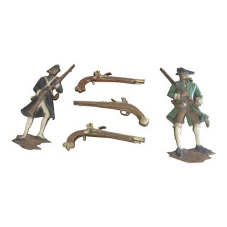 Revolutionary War Soldiers & Armaments - Set of 5