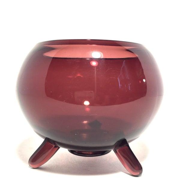 MCM Viking Footed Art Glass Dish - Image 2 of 7