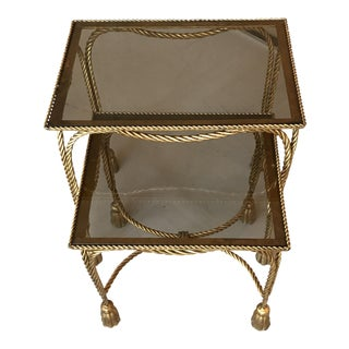 1950s Gilt Rope and Tassel Nesting Tables
