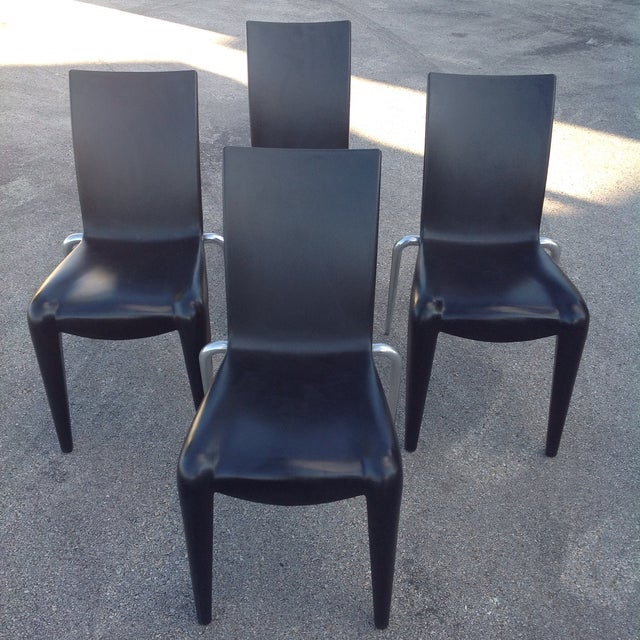 Philippe Starck S Missoni Fabric Mademoiselle Chair: Philippe Starck Black Louis 20 Chairs, Vitra - 4