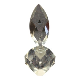 Faceted Crystal Perfume Bottle and Stopper