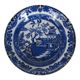 Burleigh Ware Willow Pattern Gilt Edge Catchall
