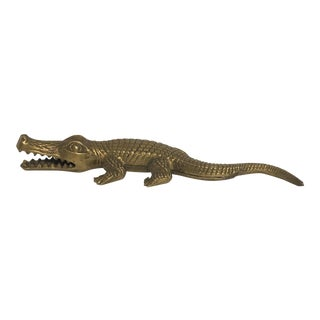 Solid Brass Alligator Nutcracker