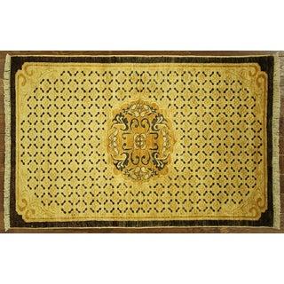 "Oushak Oriental Gold Chobi Rug - 3'9"" x 5'9"""