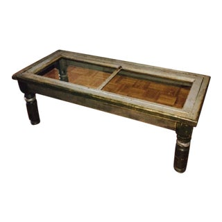 Vintage Window Pane Coffee Table