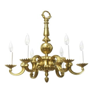 6-Arm Gold French Chandelier
