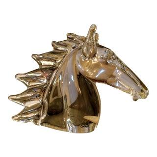 FM Konstglas Ronneby Signed Swedish Art Glass Horse Head