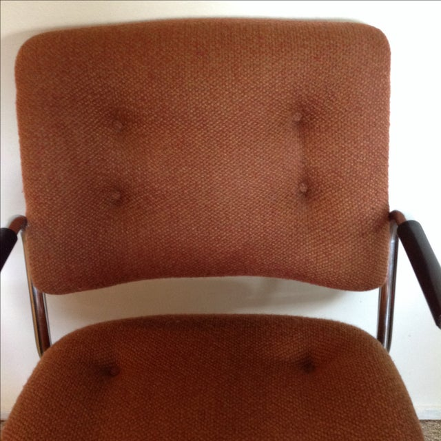 Vintage Orange Tweed Steelcase Office Chair - Image 5 of 9