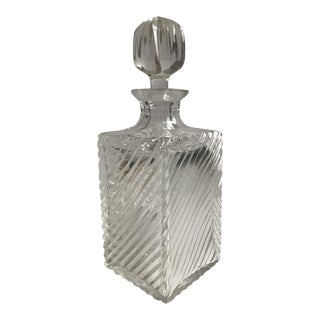 Antique Ribbed Glass Decanter