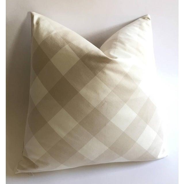 Diagonal Beige & Cream Plaid Pillow Cover - Image 2 of 6