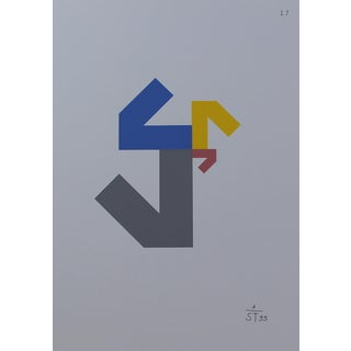 Anton Stankowski Abstract Serigraph