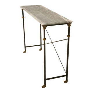 Stainless & Bronze Console Table