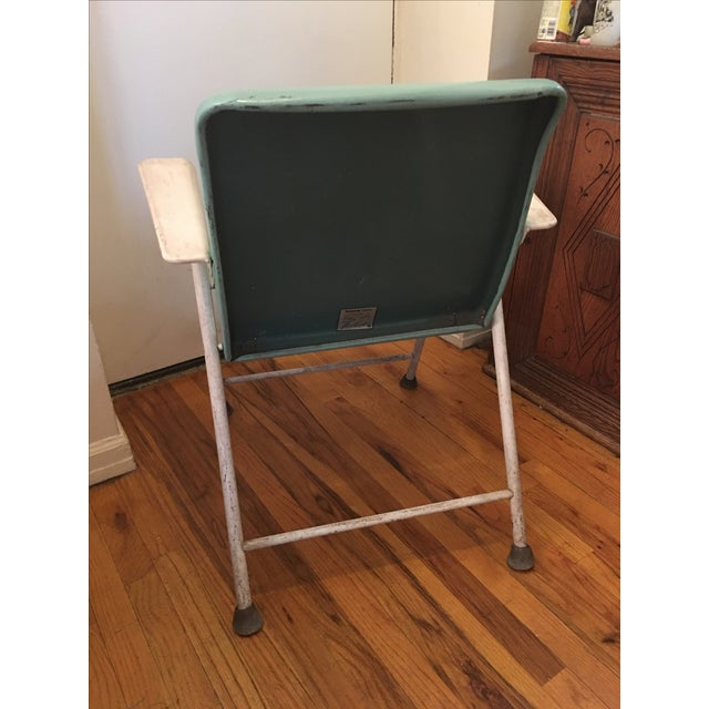 Russel Wright Blue Samson Folding Chair Chairish