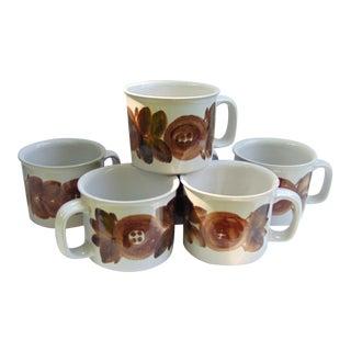 Rosmarin Brown Arabia Coffee Mugs - Set of 6