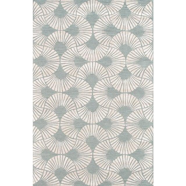 Image of Pasargad Modern Silk & Wool Area Rug- 5'x8'