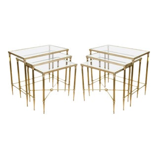 Italian Mirrored Nesting Table Sets - Set of 6
