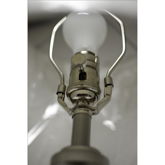 Image of Brushed Nickel Table Lamp With Lampshade