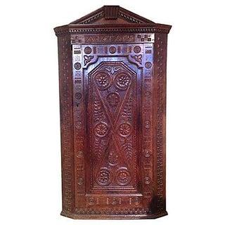 1709 Carved English Corner Cabinet
