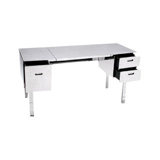 Polished Aluminum Folding Campaign Desk