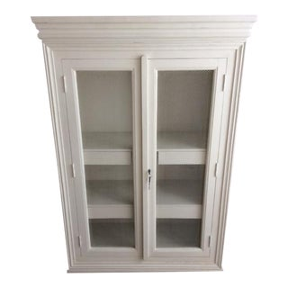 Distressed Blanc d'Ivoire Painted Armoire