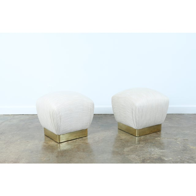 Karl Springer Soufflé Ottomans - A Pair - Image 10 of 10