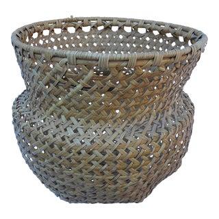 Vintage Open Weave Basket