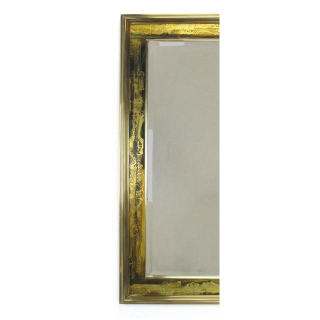 Pair of Mastercraft Bernhard Rohne Acid-Etched Frame Beveled Mirrors - Image 7 of 8