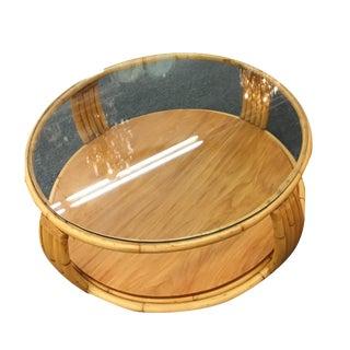 Paul Frankl Rattan Coffee Table