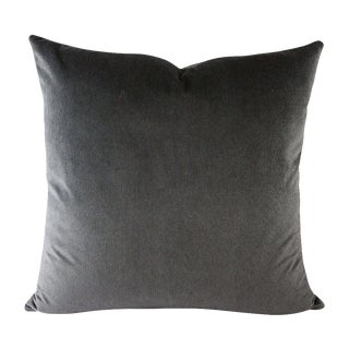 Navy & Black Striped Velvet Pillow
