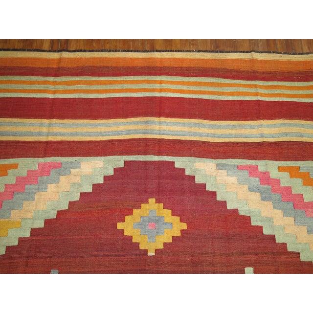 """Vintage Room Size Turkish Kilim - 8'5"""" x 11'6"""" - Image 5 of 5"""