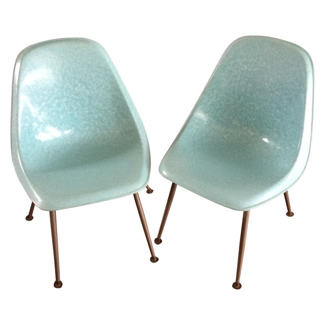 Mid-Century Shell Chairs by Brody - A Pair - Image 1 of 7