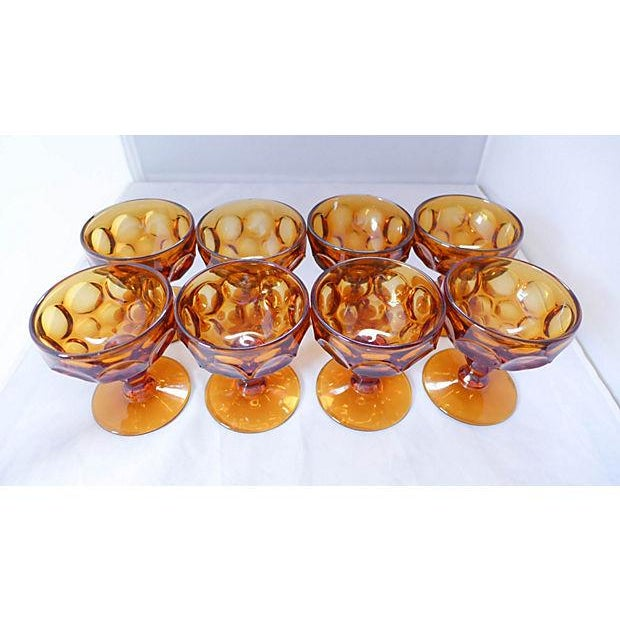 Amber Sherbet Glasses - Set of 8 - Image 3 of 6