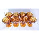 Image of Amber Sherbet Glasses - Set of 8