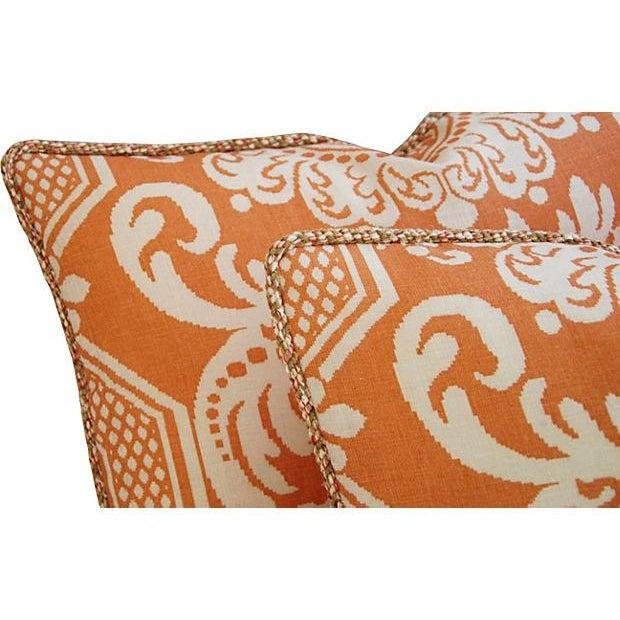 Custom Vervain Trocadero Linen Pillows - Pair - Image 5 of 8
