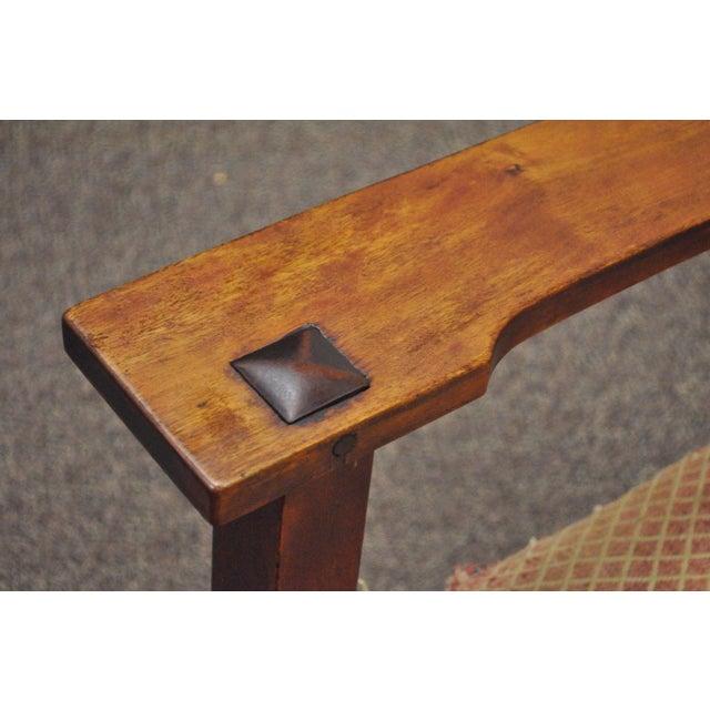 Antique Solid Maple Mission Arts & Crafts Rocker Rocking Chair Stickley Era - Image 10 of 10