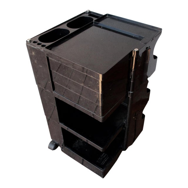Taboret Mid-Century Modern Black Cart - Image 1 of 10