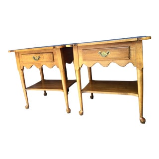 Ethan Allen Early American Maple Side Tables - A Pair