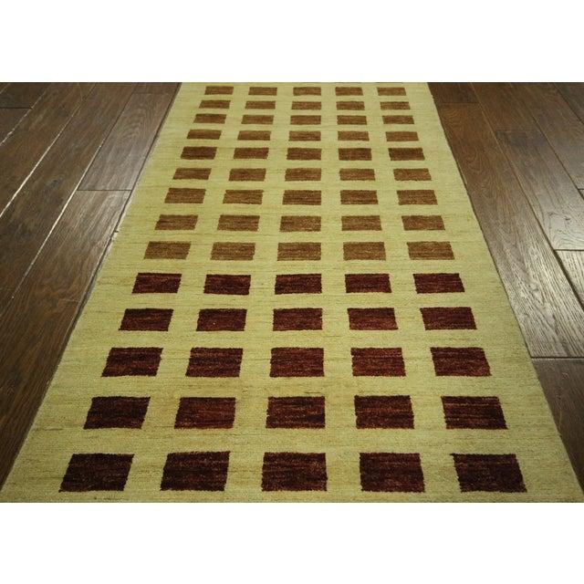 Ivory Checkered Kashkuli Gabbeh Runner - 3'x10' - Image 6 of 9