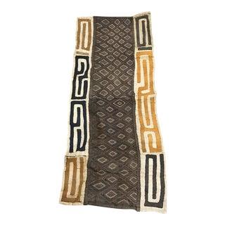 """African Tribal Art Handwoven Kuba Cloth Panel - 17.75"""" x 42.5"""""""