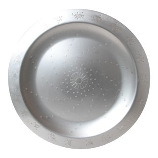 "Massive Art Deco Lurelle Guild Kensington Aluminum 18 inch "" Constellation "" Tray"