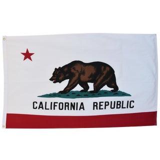 Large Vintage California Republic State Bear Flag