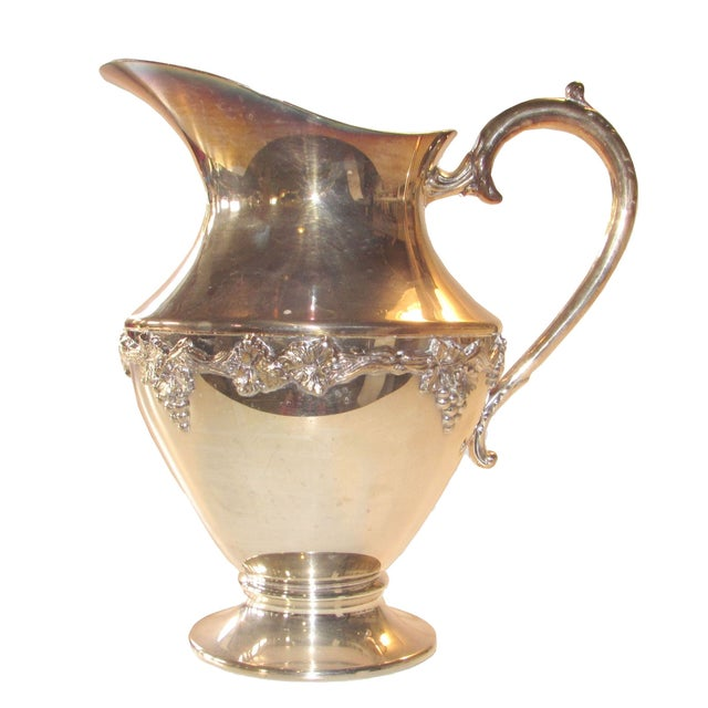 Silver Plated Water Pitcher - Image 1 of 4