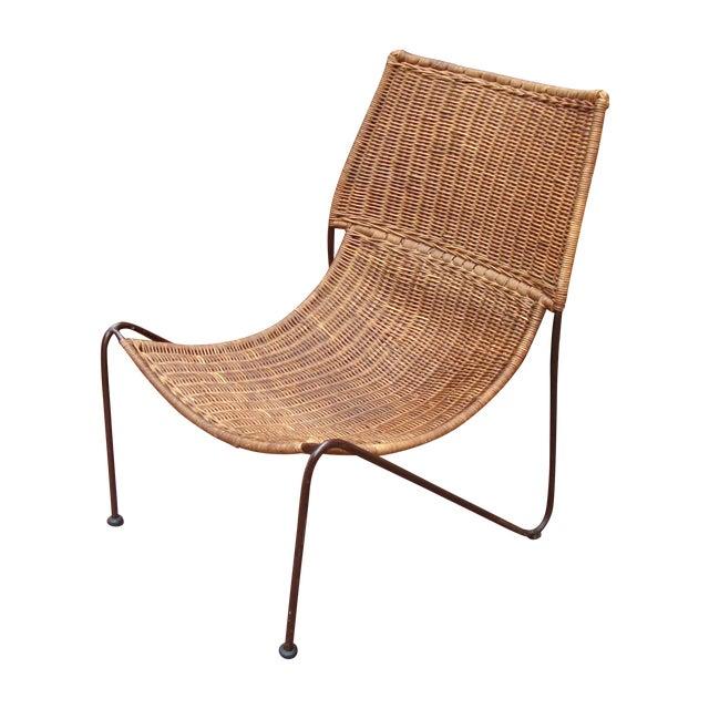 MCM Modern Wicker Iron Frederick Weinberg Chair - Image 1 of 10