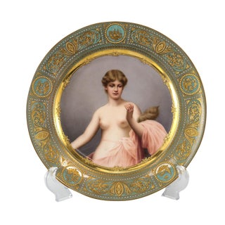 Royal Vienna Style Porcelain Hand Painted Klotho Plate