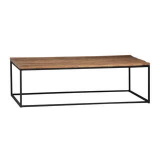 Modern Wood & Iron Coffee Table