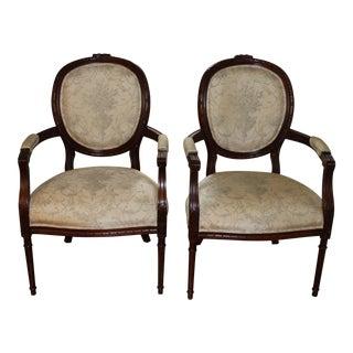 2 Henredon Louis XVI Arm Chairs