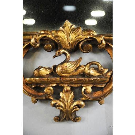 Antique Rococo Phoenix Crested Mirror - Image 8 of 11