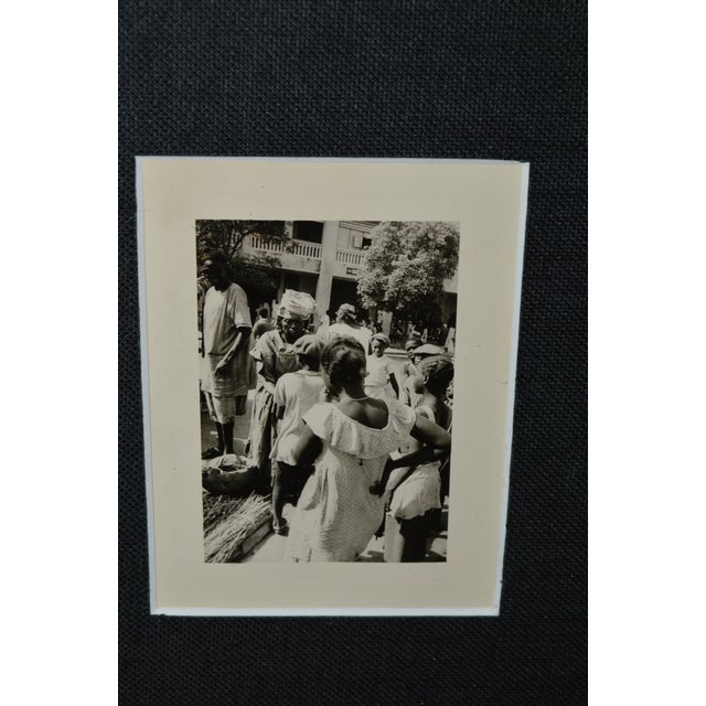 Vintage African Market Scence B&W Photograph - Image 3 of 3