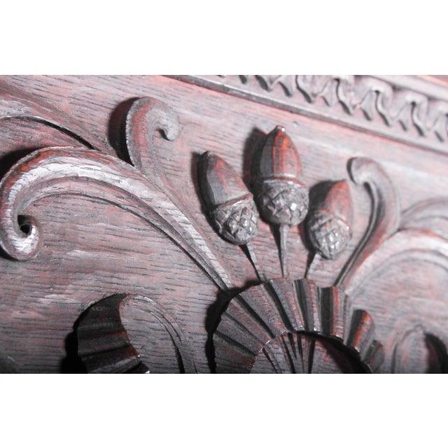 C. 1880 Vanderbilt Mansion Original Hand-Carved Oak Lion Wall Panel - Image 6 of 11